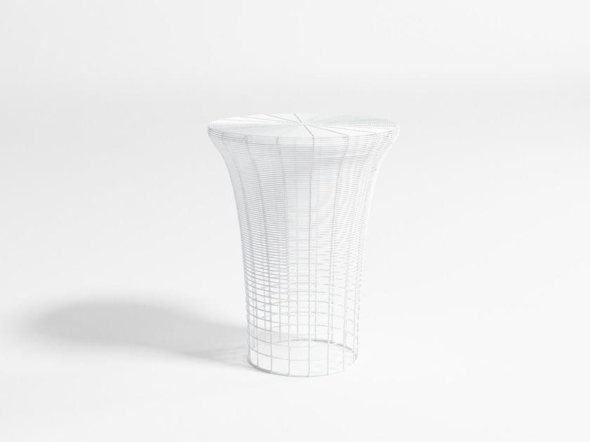 High stainless steel garden stool ARAM | High stool by GANDIA BLASCO