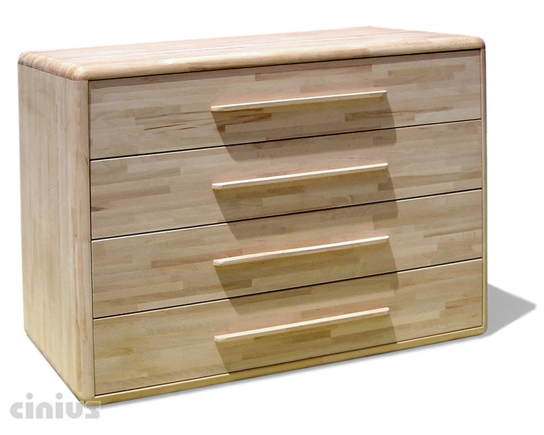 Free standing beech chest of drawers ARCA | Chest of drawers - Cinius