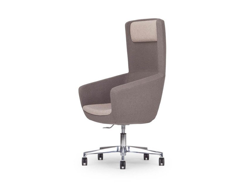 Swivel executive chair with 5-spoke base with casters ARCA | Executive chair - True Design