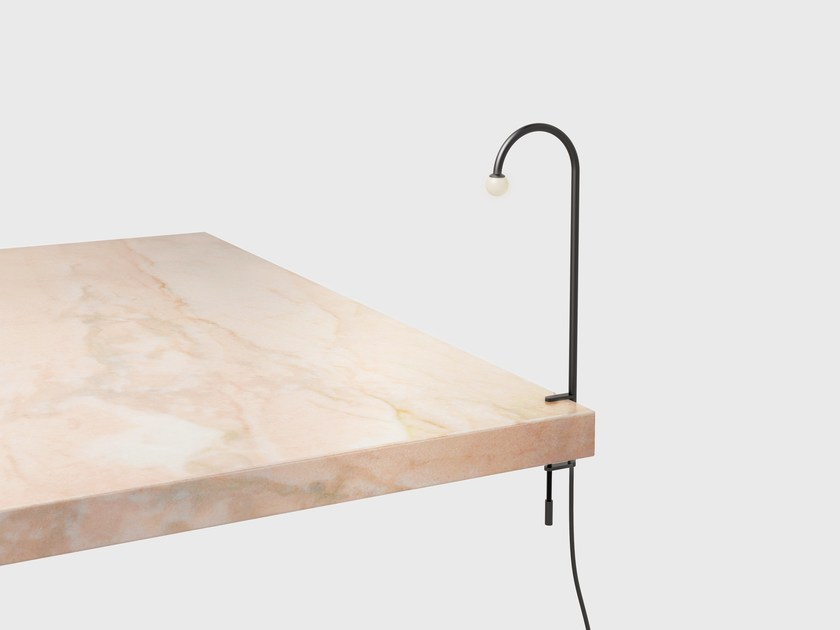 LED Satin brass table lamp ARCA | Table lamp by Matter Made