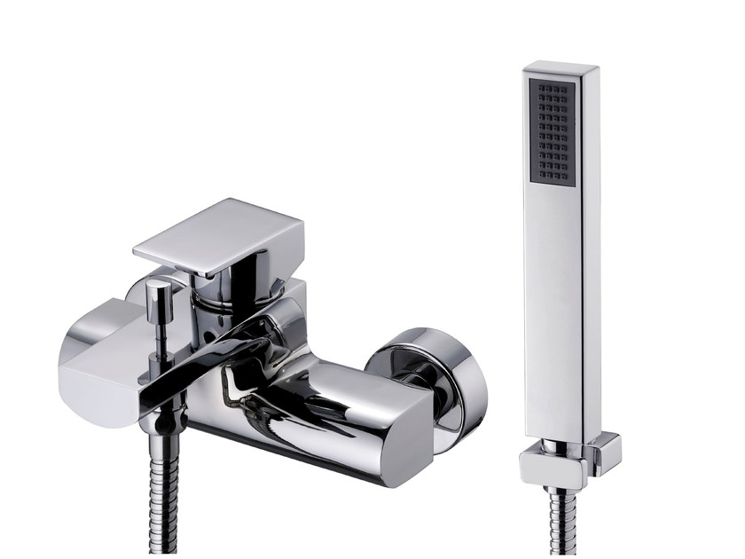 Wall-mounted bathtub/shower mixer with hand shower ARCH | Bathtub mixer with hand shower - JUSTIME