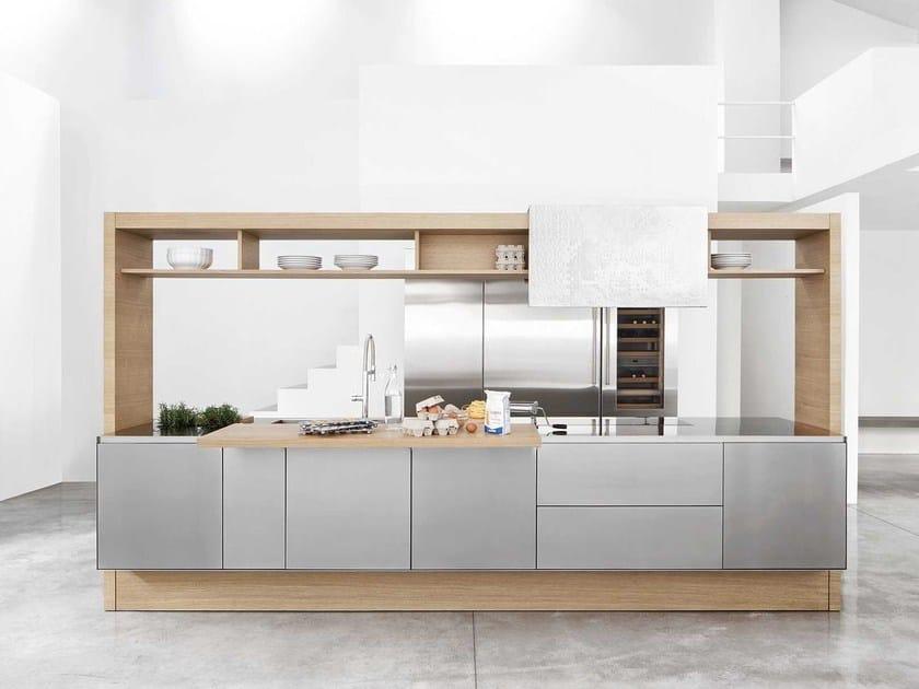 Cucina in acciaio e legno ARCHEA II. - Polaris Life