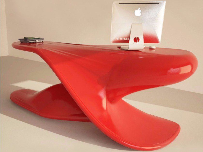 Lacquered Adamantx® executive desk ARCHER by ZAD ITALY