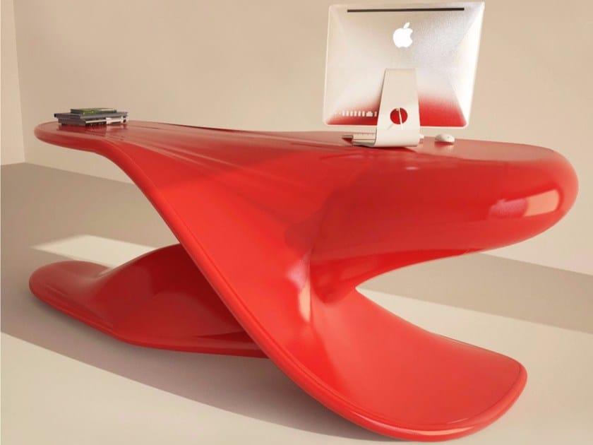 Lacquered Adamantx® executive desk ARCHER - ZAD ITALY
