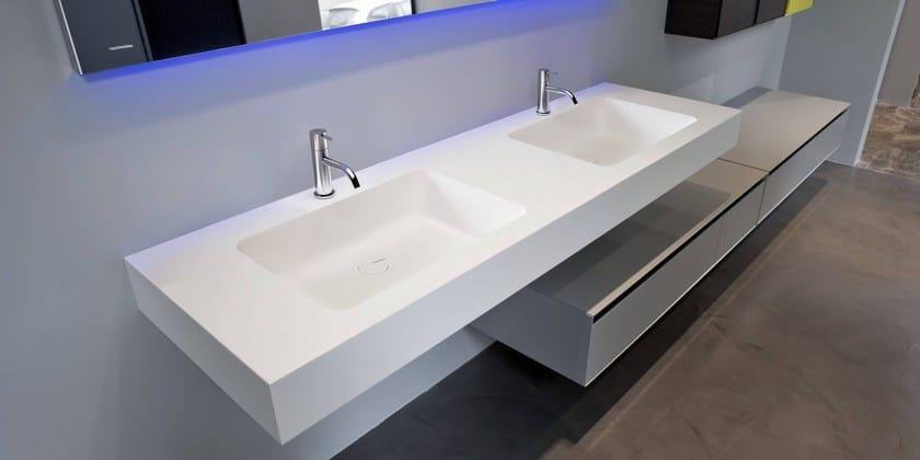 piano lavabo in corian arco antonio lupi design