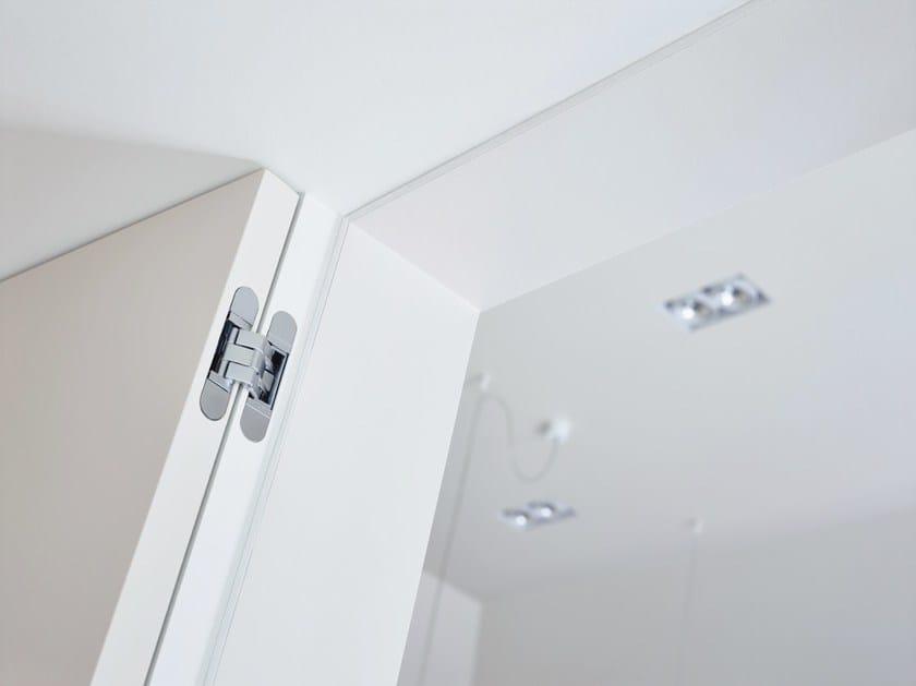 Concealed metal door hinge ARGENTA® INVISIDOOR® DL - Argent Alu