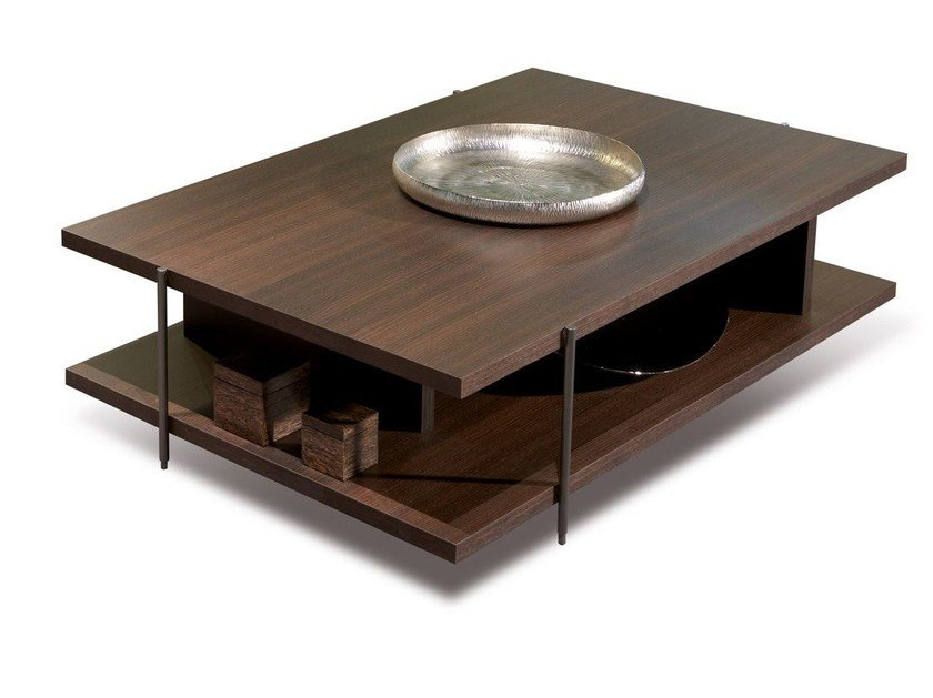 Oak coffee table with integrated magazine rack ARGO | Coffee table - MisuraEmme