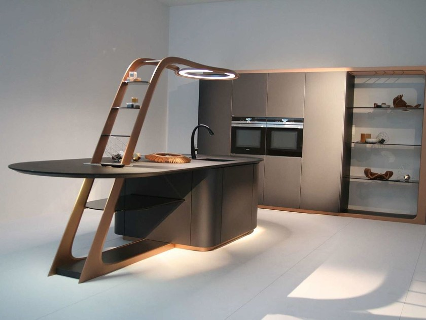 Lacquered kitchen with island ARIA - Snaidero