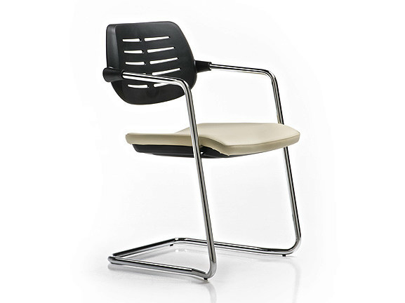 Reception chair with armrests ARIEL - D.M.