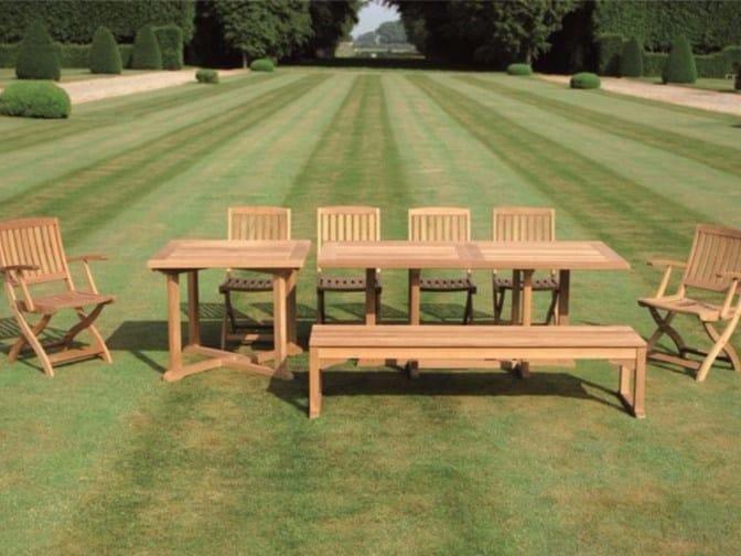 Rectangular teak garden table ARLINGTON   Rectangular table by Tectona