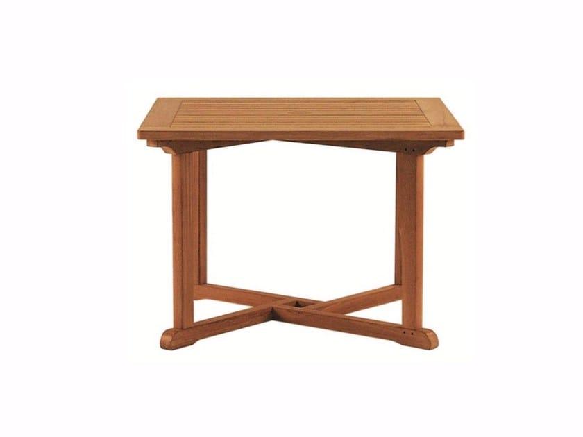Square teak garden table ARLINGTON | Square table - Tectona
