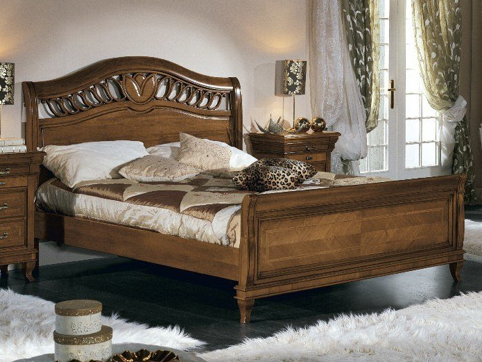 Solid wood double bed ARMONIE | Double bed by Arvestyle