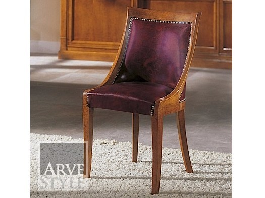 Upholstered leather chair GONZAGA | Chair - Arvestyle