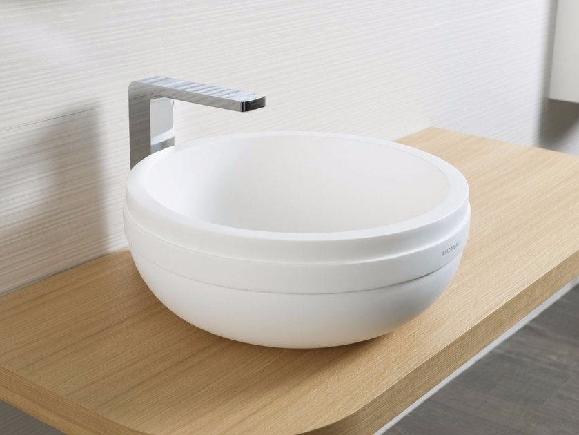 Countertop round Krion® washbasin ARO | Countertop washbasin by Systempool