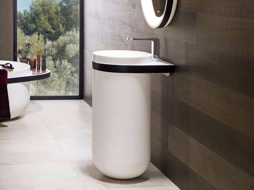 Round pedestal Krion® washbasin ARO | Pedestal washbasin - Systempool