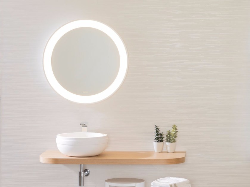 Wall-mounted mirror with integrated lighting ARO | Mirror - Systempool