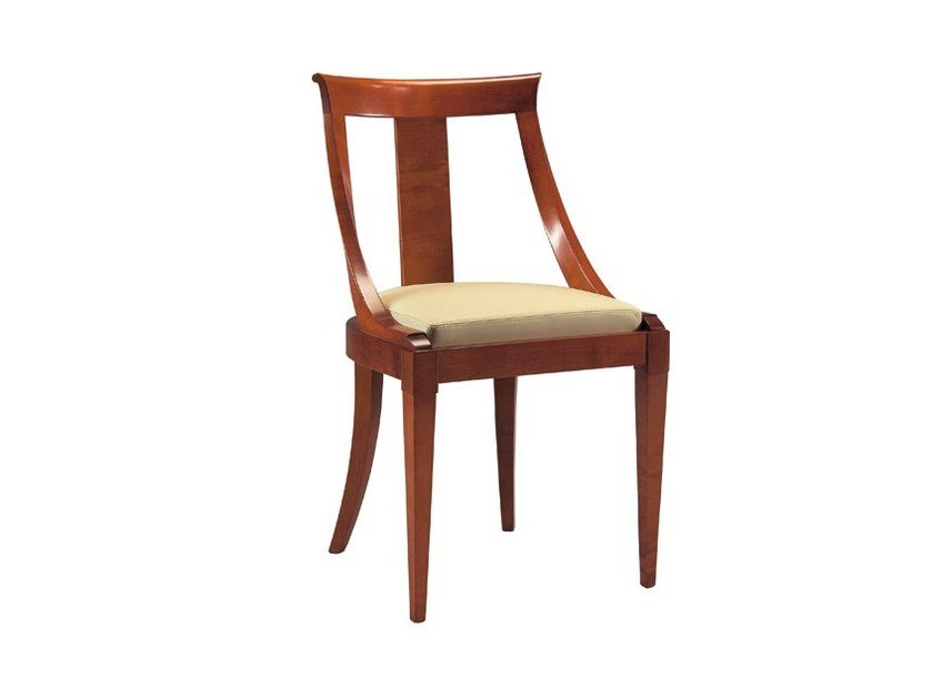 Upholstered cherry wood chair ARPA | Chair - Morelato