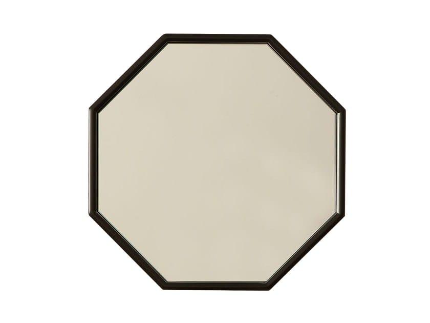 Wall-mounted framed mirror ARRIFANA by Branco sobre Branco