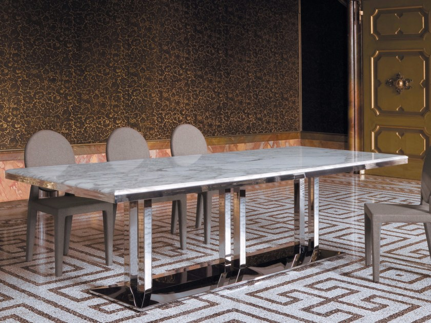 Rectangular marble dining table ARTÙ | Table - Longhi