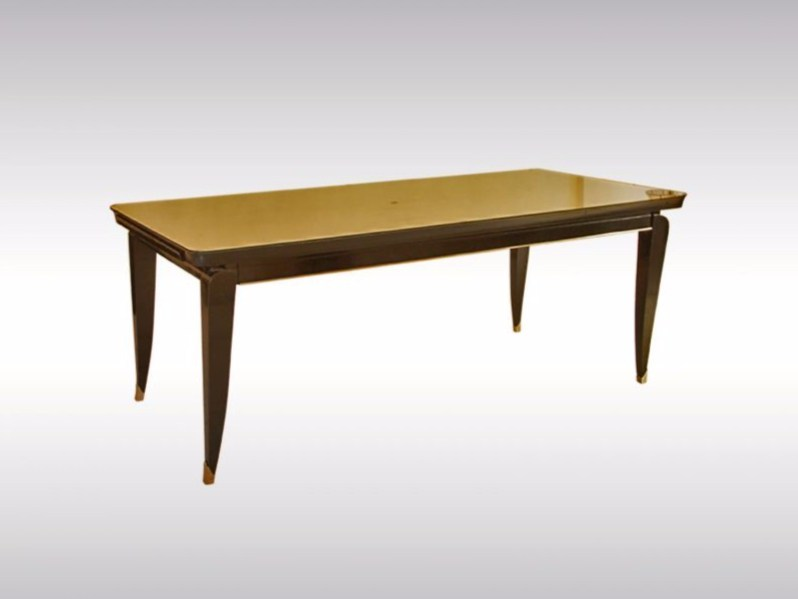 Table extensible rectangulaire en bois art deco esstisch for Table rectangulaire extensible bois