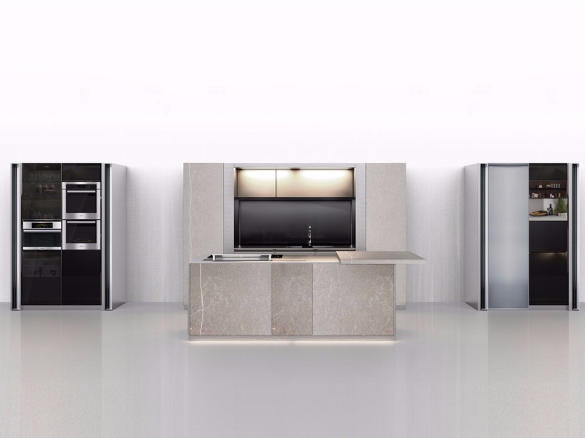Lacquered kitchen with island ARTE | Lacquered kitchen by Euromobil