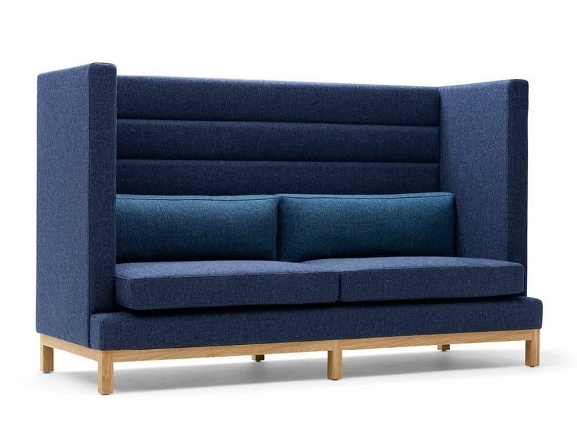 Upholstered 2 seater high-back sofa ARTHUR | 2 seater sofa - Boss Design