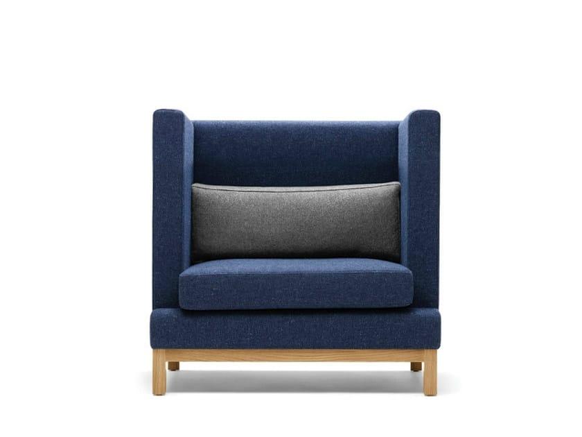 Upholstered fabric armchair ARTHUR | Upholstered armchair - Boss Design