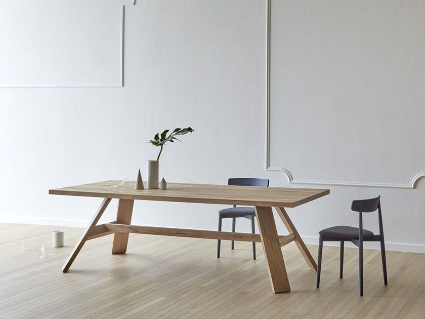 Rectangular oak table ARTIGIANO - Miniforms