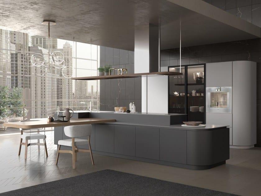 Cucina laccata con isola con maniglie integrate ARTIKA | Cucina con ...