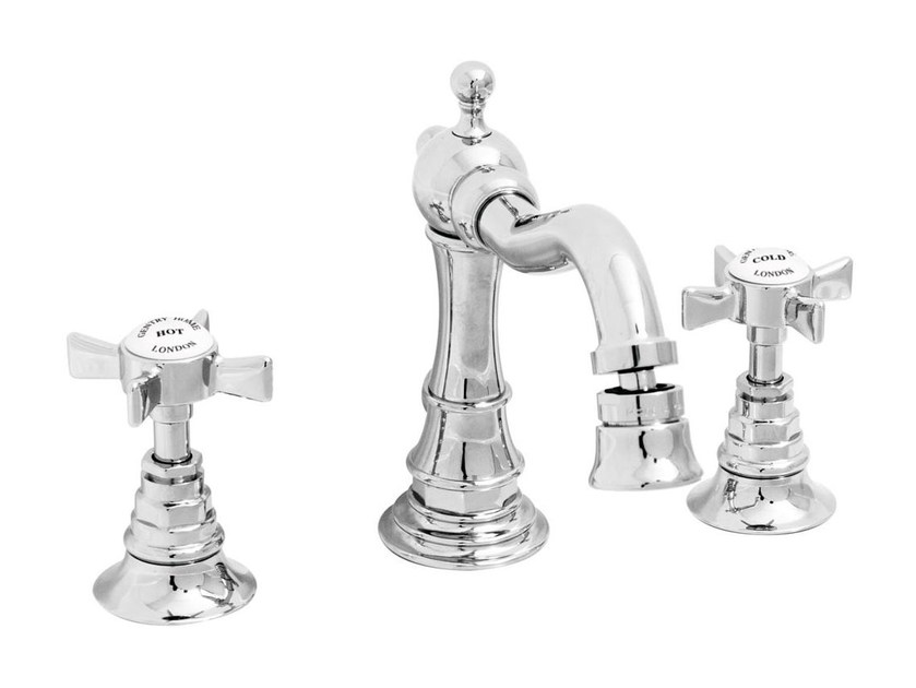 3 hole chrome-plated countertop bidet tap ASCOT STYLE | 3 hole bidet tap - GENTRY HOME