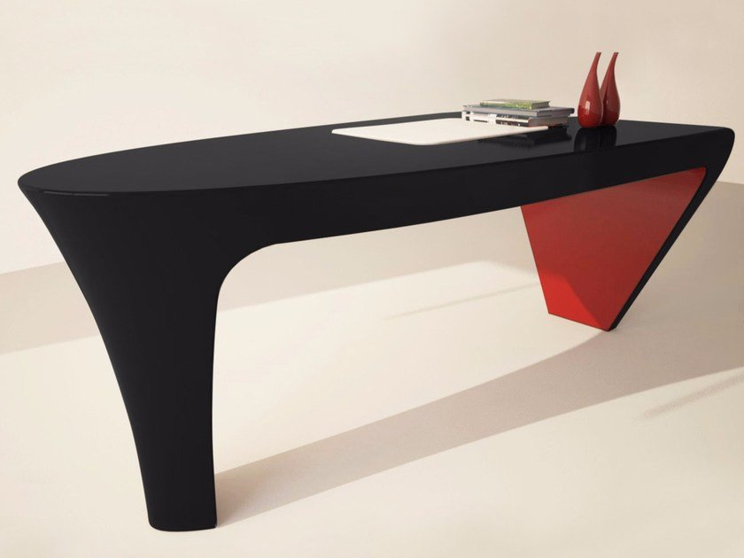 Lacquered Adamantx® executive desk ASHE by ZAD ITALY