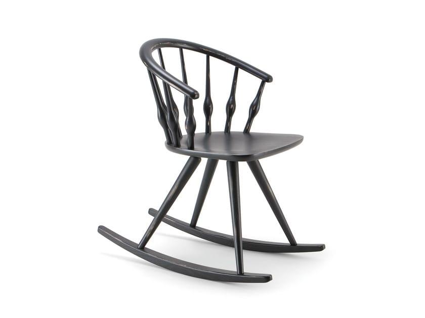 Rocking beech chair ASTON | Rocking chair - CIZETA