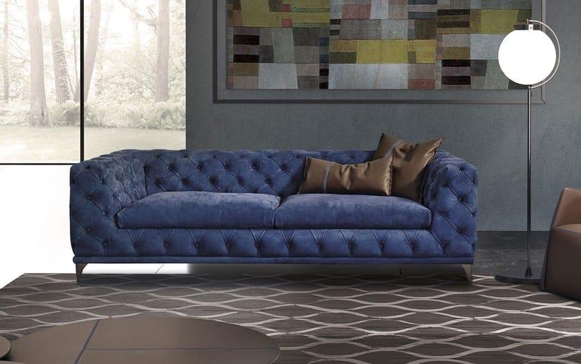 Tufted leather sofa ASTON | Tufted sofa - ITALY DREAM DESIGN - Kallisté