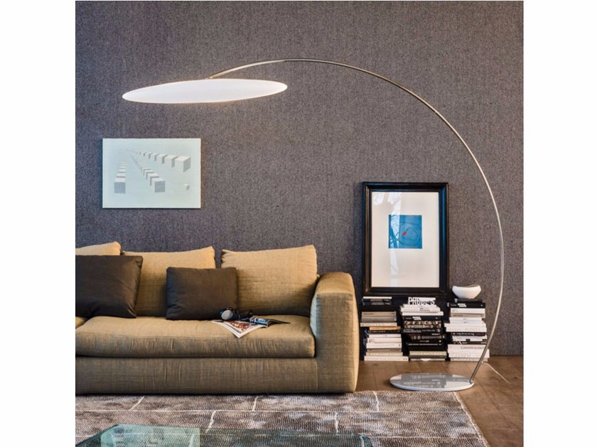 Chrome plated steel floor lamp ASTRA ARC - Cattelan Italia