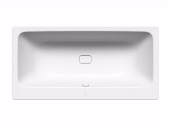 Rectangular enamelled steel bathtub ASYMMETRIC DUO - Kaldewei Italia