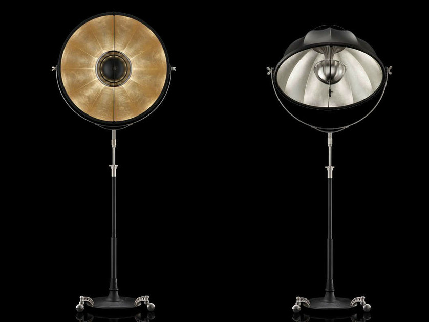 Indirect light adjustable floor lamp ATELIER 76 by Fortuny