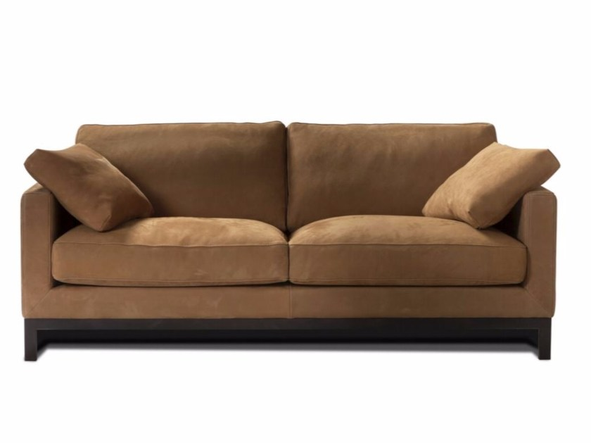 Upholstered 3 seater leather sofa ATHÉNÉE | 3 seater sofa - Canapés Duvivier