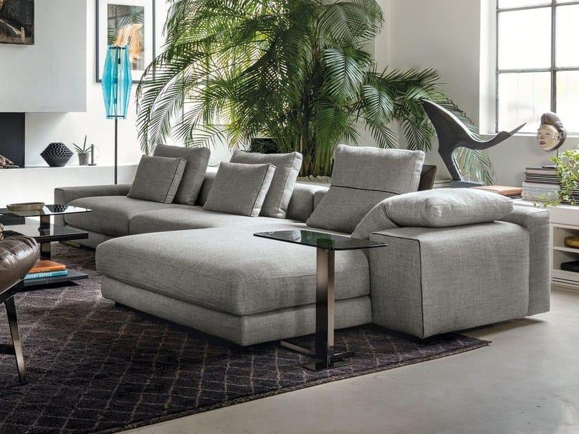 Divano in tessuto con chaise longue ATLAS | Divano con chaise ...