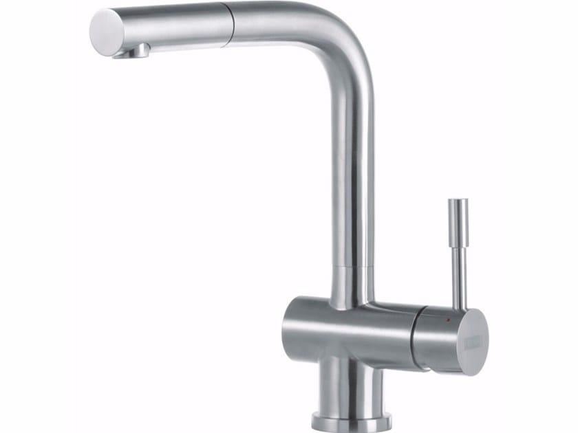 Miscelatore da cucina in acciaio inox con doccetta estraibile ATLAS | Miscelatore da cucina con doccetta estraibile - FRANKE