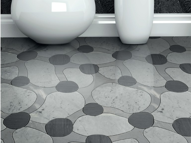 Marble flooring ATOLLO AQL by Lithos Mosaico Italia