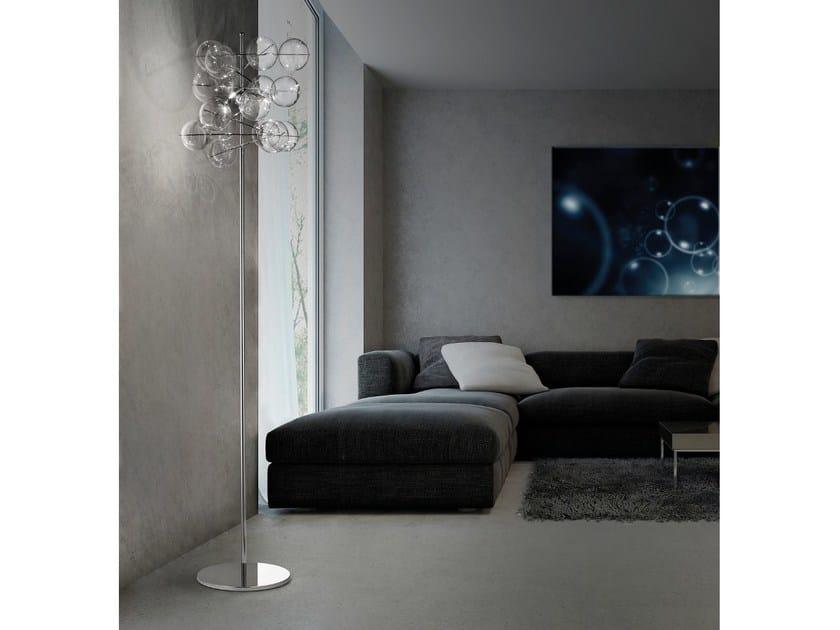 Crystal floor lamp ATOM Ø 40 | Floor lamp - Metal Lux di Baccega R. & C.