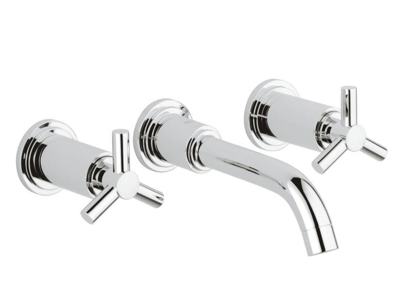 3 hole washbasin tap without waste ATRIO CLASSIC YPSILON SIZE S | Wall-mounted washbasin tap - Grohe