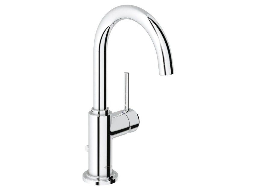 Single handle washbasin mixer with pop up waste ATRIO ONE C SIZE L | Countertop washbasin mixer - Grohe