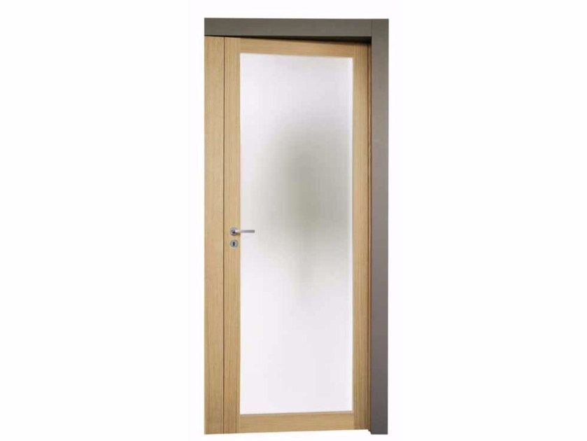 Contemporary style hinged wooden door with concealed hinges ATROPORTA VÌ - Capoferri Serramenti