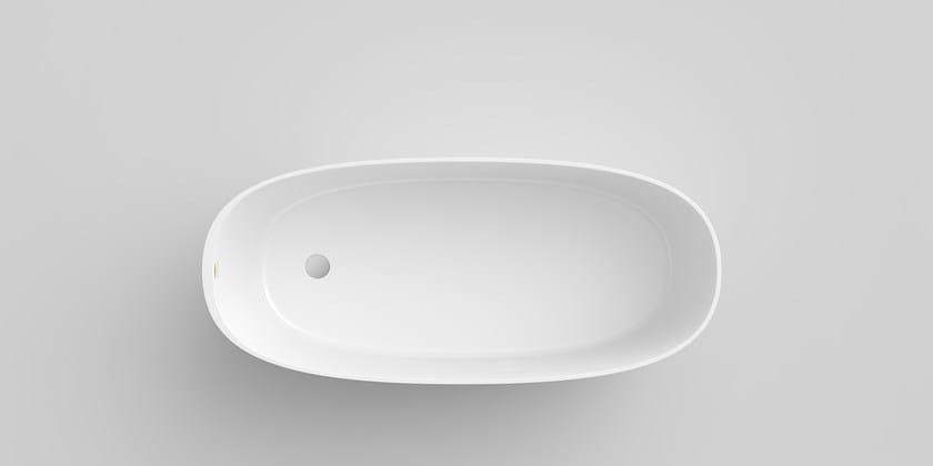Freestanding Composite Material Bathtub Attitude By
