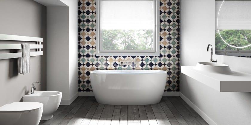 Vasca da bagno centro stanza in materiale composito ATTITUDE - Jacuzzi