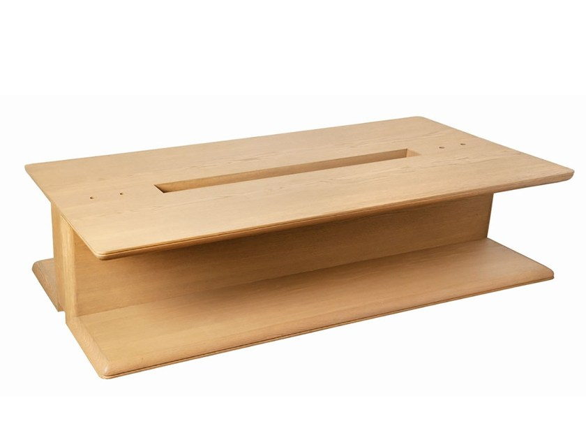 Rectangular coffee table with storage space ATUM - Branco sobre Branco