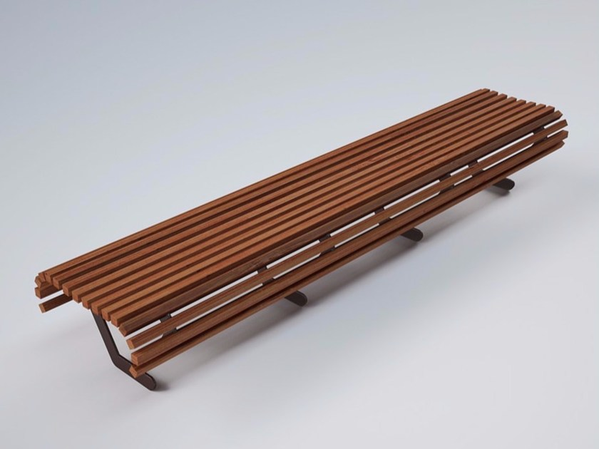 Panchina in acciaio e legno AUDREY WOOD - CITYSì