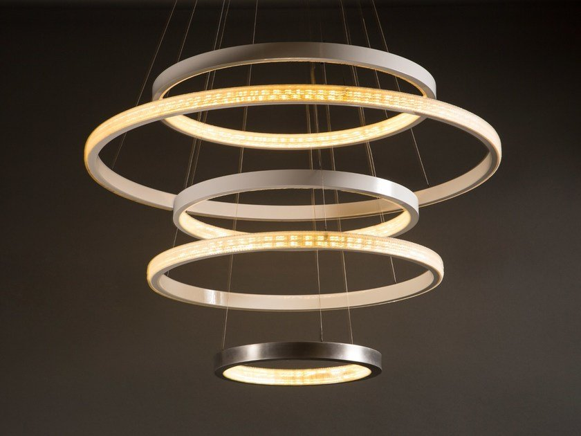 LED metal pendant lamp with dimmer AURA - Cameron Design House