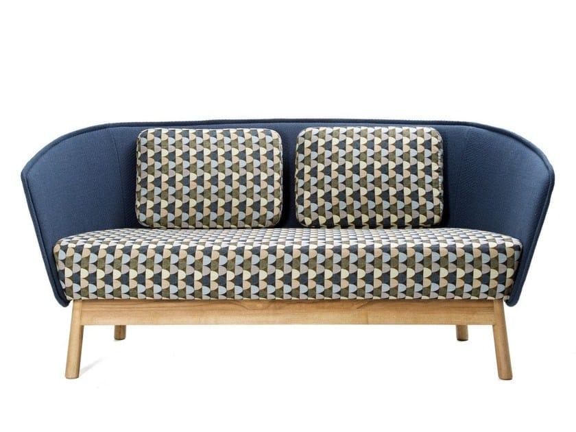 2 seater fabric sofa AURA WOOD by Inno Interior Oy